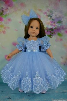 How much is it worth American Doll Clothes, Ag Doll Clothes, Doll Clothes Patterns, Little Girl Dresses, Girls Dresses, American Girl Hairstyles, Barbie Wedding Dress, Special Dresses, Holiday Outfits