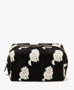 Cat Print Cosmetic Pouch | FOREVER21