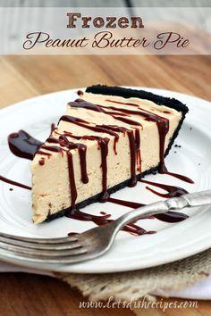 Easy Frozen Peanut Butter Pie on MyRecipeMagic.com