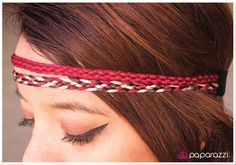 Let Your Hair Down ~ Wine, brown and tan cording with a silky texture are braided together into two rows for a shimmery incandescent look.