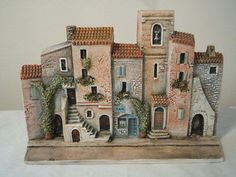 DOMINIQUE GAULT FRENCH FRANCE MINIATURES HOUSES STREET SCENE   Pottery & Glass, Pottery & China, Art Pottery   eBay!