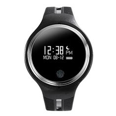 Docooler E07 Smart Watch 096 OLED Screen for IOS 70 Android 43 Bluetooth 40 or Above Smartphone GPS Motion Running Mode Call Reminder Sleep Monitoring Music Camera Control Phone Location *** Visit the image link more details.