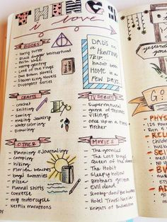 things I love bullet journaling page: