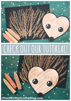 I'm hoping to encourage some colorful, non scary, creativity on your kitchen table with our Paper & Chalk Art Hedgehog kid craft tutorial! Summer Camp Crafts, Camping Crafts, Spring Crafts, Forest School Activities, Craft Activities For Kids, Crafts For Kids, Chalk Crafts, Chalk Art, Toddler Art