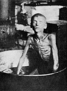 ☭1933, Famous Photo of a starving Ukrainian by Gareth Jones. Up to 7.5 million Ukrainians were killed by Stalin in the 'Holodomor' ('Hunger-extermination') from 1932 to 1933. It was the use of purposeful starvation as a weapon: The famine had been predicted, then all foodstuffs were confiscated, outside aid was rejected and population movement restricted. It seems that Joseph Stalin wanted to thus eliminate the Ukrainian independence movement.