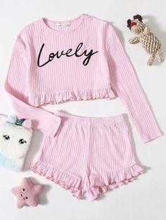 Cute Pajama Sets, Cute Pajamas, Pj Sets, Girly Outfits, Kids Outfits, Summer Outfits, Cute Outfits, Trendy Fashion, Fashion Outfits