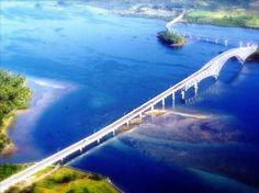 Cross that San Juanico Bridge in Leyte, Philippines