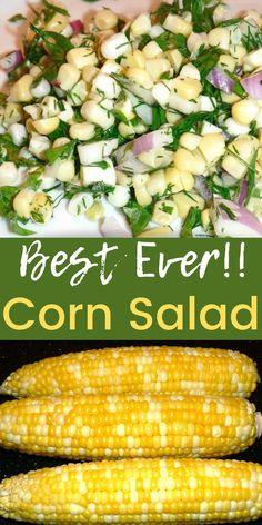 Healthy Corn, Healthy Potatoes, Healthy Vegetable Recipes, Healthy Side Dishes, Healthy Salad Recipes, Vegetable Side Dishes, Corn Salad Recipe Easy, Corn Salad Recipes, Best Salad Recipes