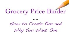Grocery Price Binder Header