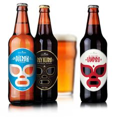 Cerveceria Sagrada, Mexican Craft Beer (I love the luchador masks).