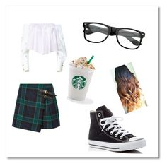 """""""School girls"""" by gisselleotero on Polyvore featuring Burberry, Anouki, Converse and ZeroUV"""