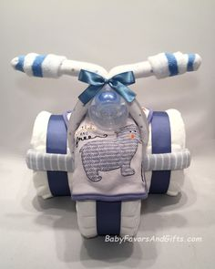 Tricycle Diaper Cake, BabyFavorsAndGifts.com