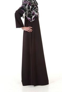 Simple Style Abaya (Eggplant) - N-ti