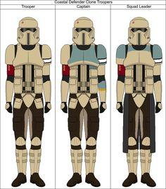 Coastal Defender Clone Troopers by Suddenlyjam on DeviantArt Star Wars Concept Art, Star Wars Fan Art, Star Wars Rpg, Star Wars Clone Wars, Saga, Clone Trooper, Imperial Stormtrooper, Galactic Republic, Fandom