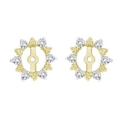 Earring jackets - yellow
