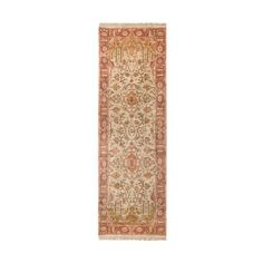Surya IT-1181 Adana Hand Knotted 100% Semi-Worsted New Zealand Wool ($1,145) ❤ liked on Polyvore featuring home, rugs, home decor, new zealand wool area rugs, hand knotted rugs, pattern rug, new zealand wool rug and colorful rugs