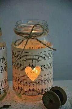 decoracion dy chritsmas tosi kivoja kynttilöitä tähän vaan tarvitset 1.nuotti papereita 2.lankaa 3.ja sakset