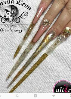 Extreme stiletto nails by lorena leon