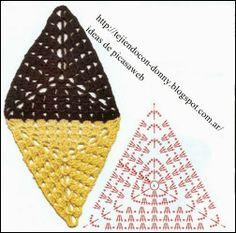 Granny - Triangulos Tejidos A Crochet
