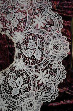 BELGIUM.....  Brugges Belgian Lace Collar Ca 1910 Antique Large by spiritfiber, $52.99