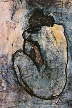 Blauw naakt, ca.1902 Foto van Pablo Picasso bij AllPosters.nl