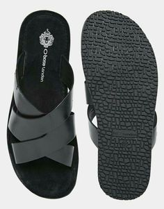 f8ce0839dad4 Image 3 of Base London Tiberius Leather Sandals