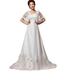 Partiss Damen Elegant Schnuerung A-Linie Rueckenfrei Brautkleider Lang Spitze Hochzeitskleider Prinzessin Abschlussballkleider,Chinesisch L,Weiss Partiss http://www.amazon.de/dp/B01C29R76Q/ref=cm_sw_r_pi_dp_cpw1wb1PSXTAF