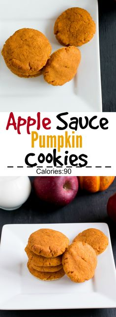 Apple Sauce Pumpkin Cookies | perfect holiday dessert or Thanks giving after dinner treat | low carb, vegan and paleo | kiipfit.com