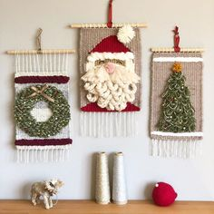Holiday wall hangings are now up in the shop! Check it out at prismaticlab.etsy.com/