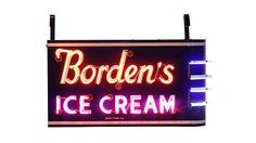 Borden's #IceCream  52x29x16 presented as lot S8. #Mecum #WalkerSignCollection #Neon #Porcelain