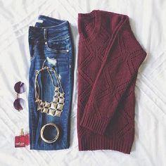 Cute maroon jumper.