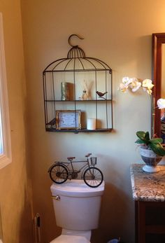 Bird cage with shelves