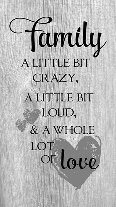 Family A Little Bit Crazy Loud Whole Lot of Love Wood Sign or Canvas Wall Art Mother's Day, Father's Day, Christmas, Anniversary, Birthday Love Wood Sign, Family Wood Signs, Diy Mother's Day Crafts, Mother's Day Diy, Mothers Day Crafts For Kids, Fathers Day Crafts, Hanging Signs, Wall Signs, Diy Canvas
