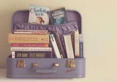 bookshelf suitcase