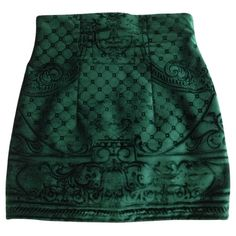 High waisted mini skirt BALMAIN Green size 38 FR in Other Autumn /... (3 940 PLN) ❤ liked on Polyvore featuring skirts, mini skirts, bottoms, gonne, saias, high-waist skirt, mini skirt, balmain, green mini skirt and green high waisted skirt