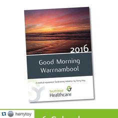 #Repost @herrytoy  Hello Friends. For a while now people have been suggesting I do something constructive with my morning photos so here it is! Ive created a 2016 calendar as a fundraiser for South West Healthcares Christmas Appeal to help raise some much needed money for medical equipment in our Operating Theatres. I have chosen 12 of my favourite photos and hope you enjoy them too. To buy a calendar you can call in to South West Healthcares Supplies shop (in the Warrnambool Base Hospital…