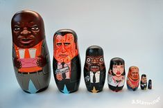 Andy Stattmiller Illustration and Design: Pulp Fiction Nesting Dolls