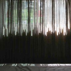 Beautiful knitted curtain by Akane Moriyama