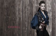 Kristen Stewart almost smiles in Chanel campaign.