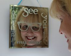 """""""The Better To See You With, My Dear!"""" This mirror is a quirky twist on a classic tale! A fun gift for all fairy tale loving nerds!"""