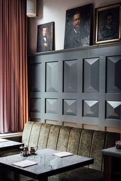 Come get amazed by the best mid-century modern hotel bar and lounge inspiration Design Hotel, Bar Design, Lounge Design, Design Ideas, Design Room, Design Bathroom, Design Trends, Architecture Restaurant, Restaurant Design