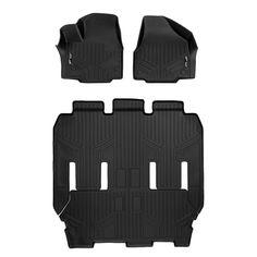 SMARTLINER Custom Fit Floor Mats 2 Row Liner Set Black for 2009-2010 Ford F-150 SuperCrew Cab