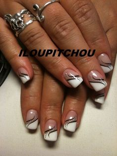 Idea and decorative inspiration and trendy nail polish 2017 Image Descriptio . nageldesign muster Idea and decorative inspiration and trendy nail polish 2017 Image Descriptio Nail Polish, Gel Nail Art, Nail Manicure, My Nails, Acrylic Nails, French Nail Art, French Nail Designs, French Tip Nails, French Manicure Nails