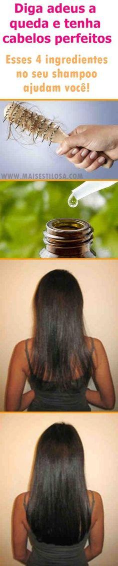 Diga adeus a queda de cabelo e tenha fios perfeitos. Adicione esses 4  ingredientes caseiros ao seu shampoo. O shampoo caseiro para queda de  cabelo trás ... 2f5d98ffed2
