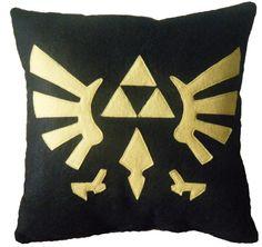 Triforce Crest Pillow by Nerd Cuddle ($18)