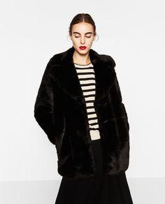 Image 2 of SHORT FAUX FUR COAT from Zara