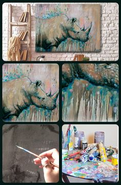 Wildlife painting. You need a beast like that