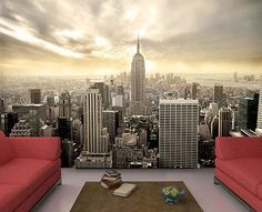 Fototapete New York Skyline View Tapete Kleistertapete L 300 x 210cm NEU TOP