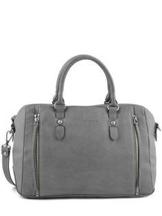 Sac Lancaster gris) Soft vintage clara