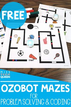 Ozobot mazes are a great way for kids to work on problem solving and coding in the classroom! I'm sharing two FREE mazes that you can use with your elementary students if they struggle with drawing the black lines.